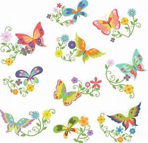 Flowers Butterflies Clipart (50+)