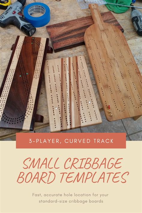 small cribbage board templates  player curved track