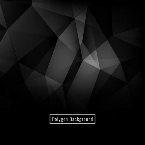 Abstract Black Background Png by Abstract Polygon Background Free Vector