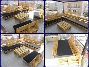 Salon De Jardin En Palette Tuto : 1001 palette astuces et autres r alisations avec des ~ Dode.kayakingforconservation.com Idées de Décoration