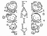 Coloring Pages Printable Happy Child Christmas Members Things Weaving Bookmark Paper sketch template
