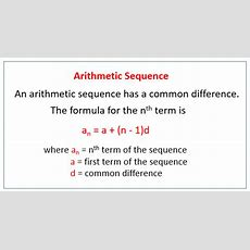 Arithmetic Sequences (solutions, Examples, Videos, Worksheets, Activities