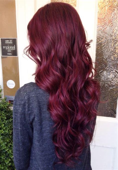 reddish purple hair color best 25 cherry hair color ideas on black
