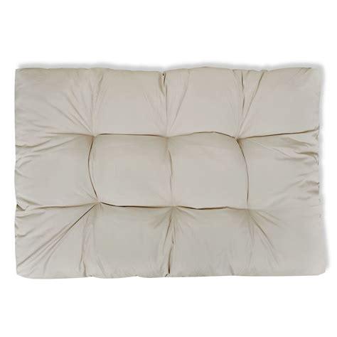 cuscini 80x80 cuscino da seduta imbottito bianco sabbia 120 x 80 x 10 cm