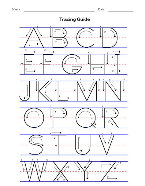 Basic Handwriting For Kids  Manuscript  Letters Of The Alphabet
