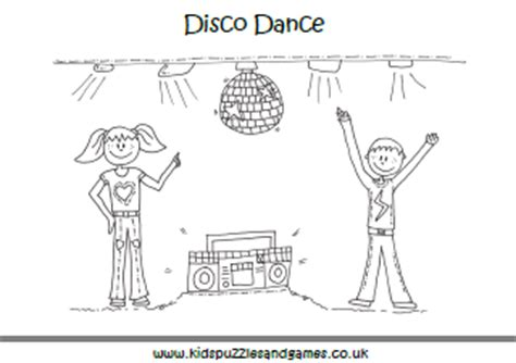 dance colouring sheets kids puzzles  games