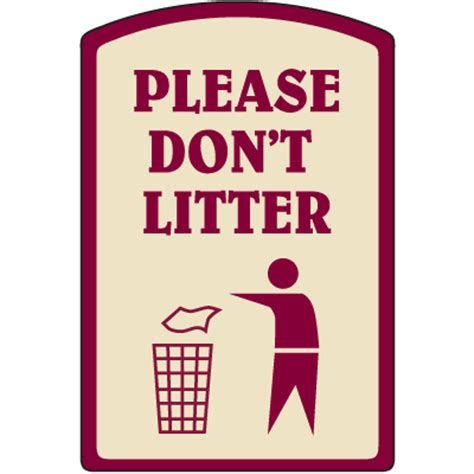 Designer Property Signs  Please Don't Litter Seton