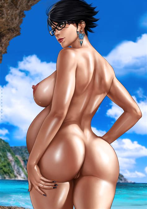Rule Girl Ass Back View Bayonetta Bayonetta Character Beach Big Breasts Black Hair Black