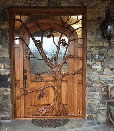 American Hippie Bohéme Boho Lifestyle ☮ Tree Front Door
