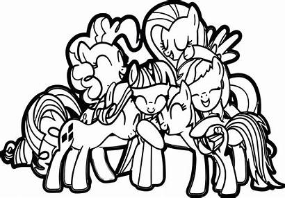 Coloring Pony Hug Pages Friendship Imagine Getcolorings