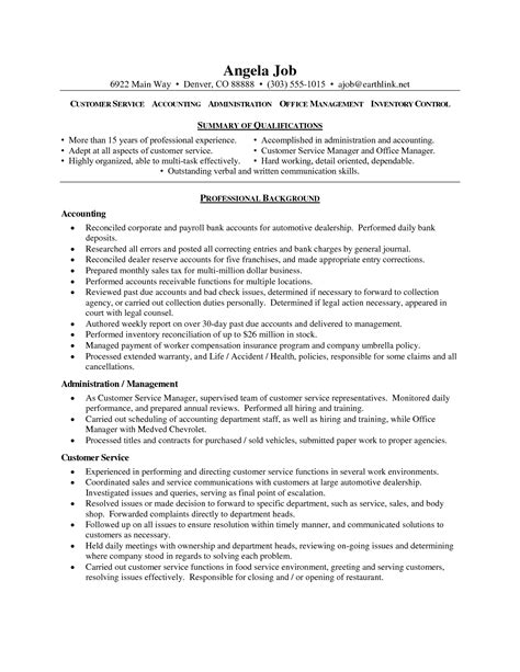 resume profile statement for customer service resume ideas