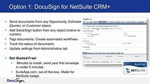 docusign for netsuite crm webinar With netsuite api documentation