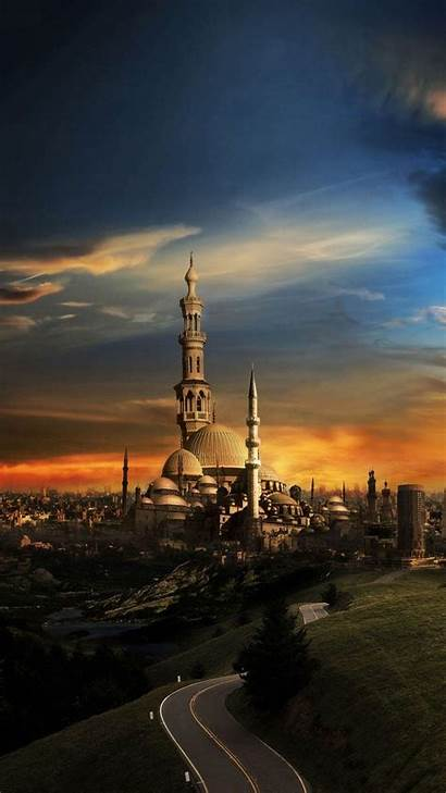 Wallpapers 1080 1920 Cave Islam Sunset