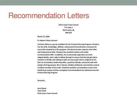recommendation letter sle for student council huanyii