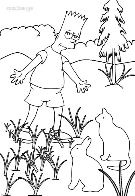 printable  simpsons coloring pages  kids coolbkids