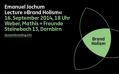 Lecture Brand Holism At Weber, Mathis + Freunde Dynamic