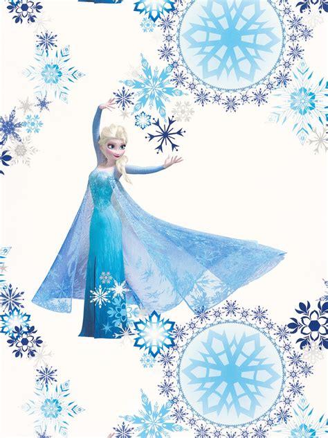 tapete blau weiss disney frozen eiskoenigin elsa disney
