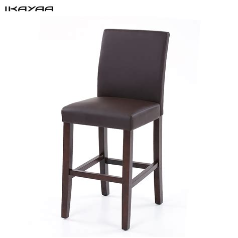 High Stool Chairs For Kitchen by Set Of 2 4 6 8 Leather Bar Stools Dining Chairs High Back