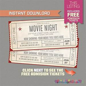 blank movie ticket invitation template free download aashe With fake movie ticket template