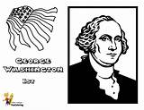 Washington Coloring Pages George Presidents President Printable Fierce Usa Yescoloring American Popular America sketch template