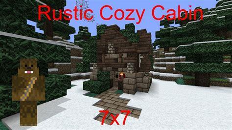 minecraft  rustic cozy cabin tutorial youtube