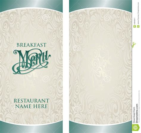 blank menu template free download breakfast menu template with blank side selimtd