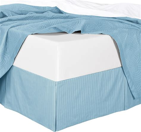 Bed Skirt With Split Corners by Royal Tradition Cotton Split Corners Damask Stripe Bed