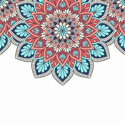 Batik Vector Pattern Ethnic Floral Background Indian