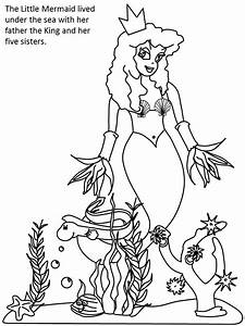 Printable Little Mermaid Color1 Cartoons Coloring Pages