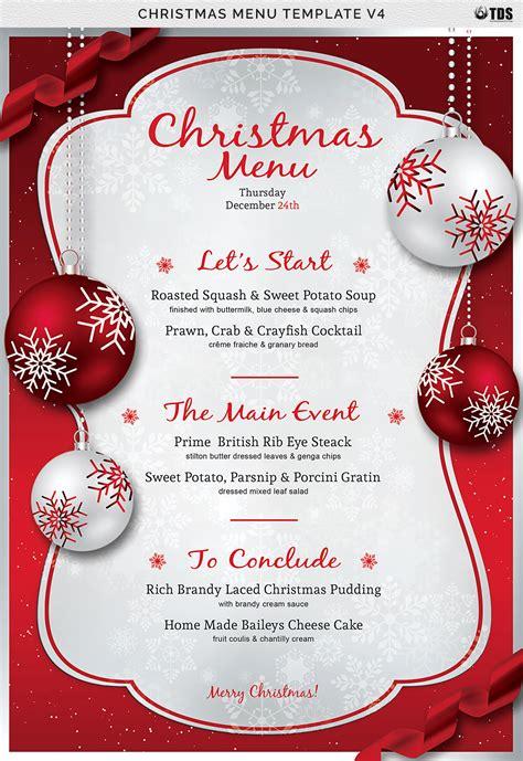 christmas menu template   behance