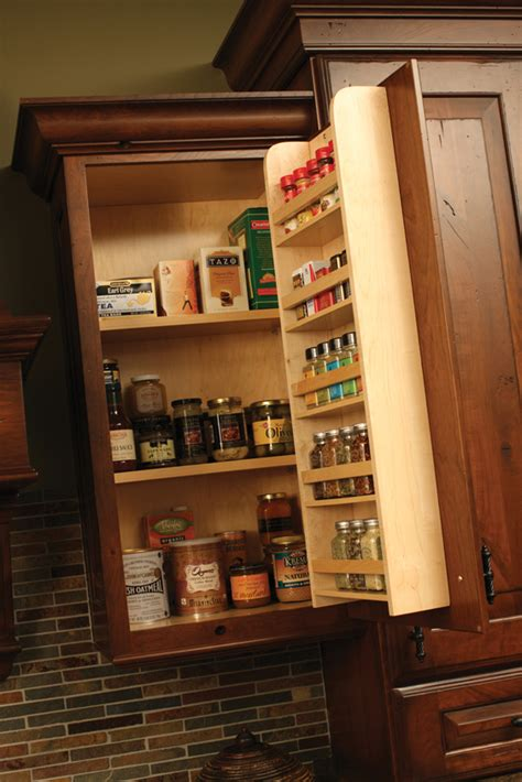 spice racks drawers storage dura supreme cabinetry