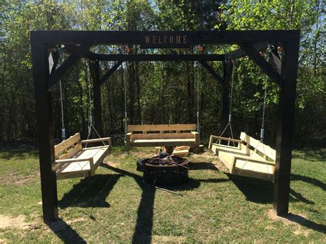 Swinging Bench Fire Pit Project  Fire Pit Design Ideas
