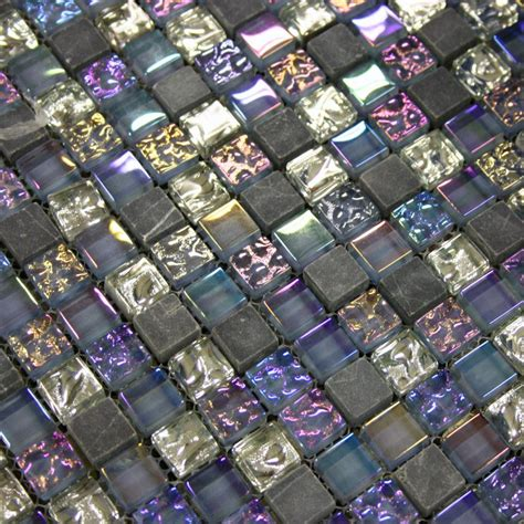 iridescent mosaic tiles uk qubic amethyst glass mosaic purple glass kitchen tiles
