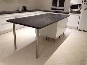Meuble Ilot Cuisine : pose des meubles hauts de la cuisine ma maison phenix ~ Teatrodelosmanantiales.com Idées de Décoration