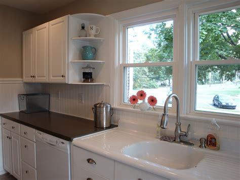 beadboard backsplash in kitchen remodelaholic kitchen backsplash tiles now beadboard