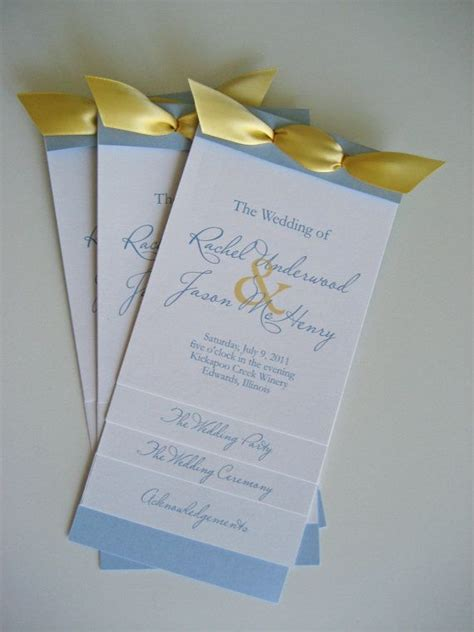 layered wedding program custom monogram program