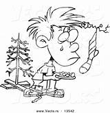 Poor Coloring Outline Cartoon Boy Wanting Vector Poverty Clipart Template Sketch Leishman Ron sketch template