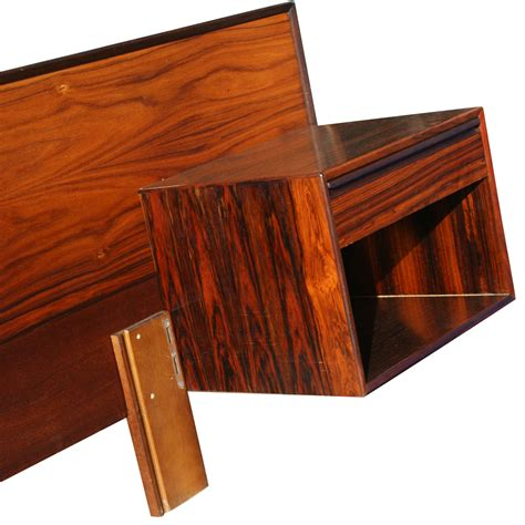 Nightstand With L Attached by Vintage Rosewood Headboard Nightstands Tables Ebay
