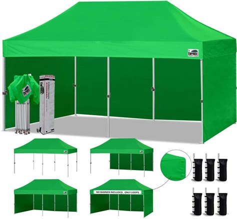 eurmax  ez pop  canopy tent commercial instant canopies   removable zipper
