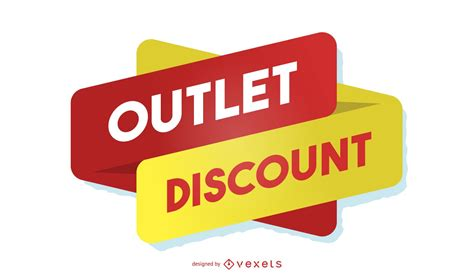 Outlet discount design template - Vector download