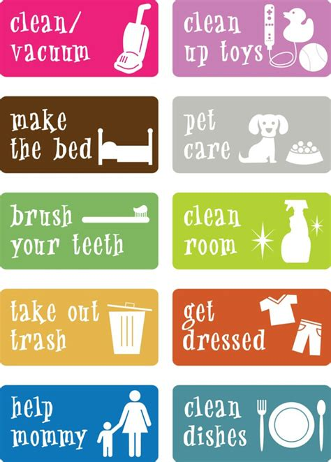 HD wallpapers printable sticker chore charts