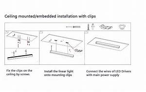 Dimmable Led Linear Light 24w-60w