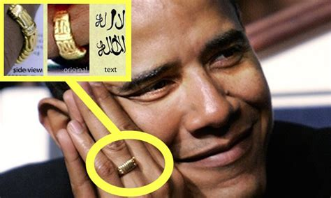 is obama s wedding ring is inscribed there is no god but allah