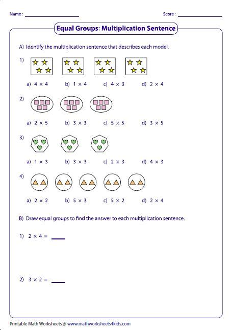 equal groups multiplication sentences matek math multiplication multiplication