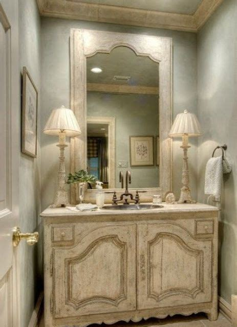 vintage  shabby chic vanities   bathroom