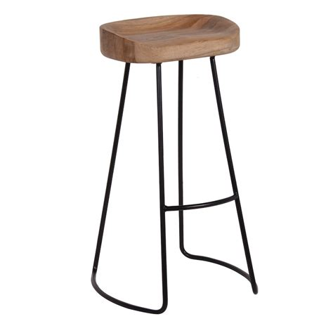 image of candle wall industrial oak bar stool