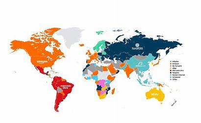 Marketplaces Commerce Ecommerce Map Mapping Country Worldwide