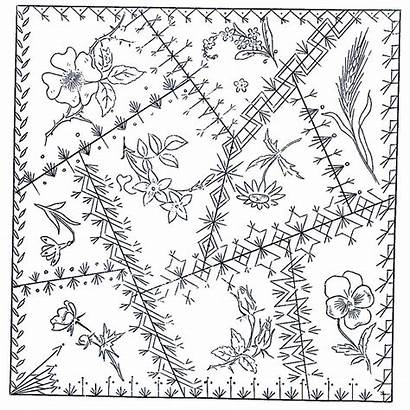 Quilt Crazy Patterns Embroidery Block Pattern Hand