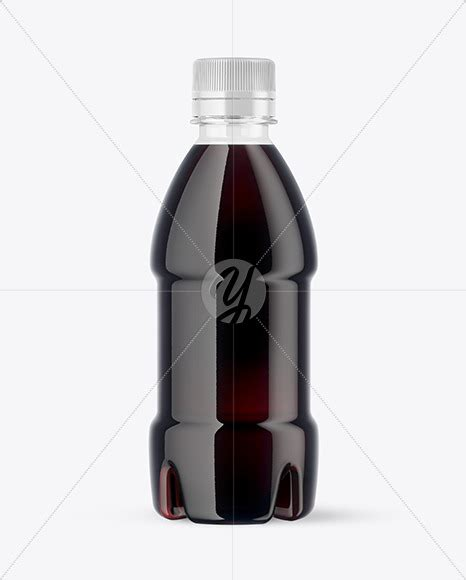 Easy to color different parts separately. 250ml PET Cola Bottle Mockup in Bottle Mockups on Yellow ...