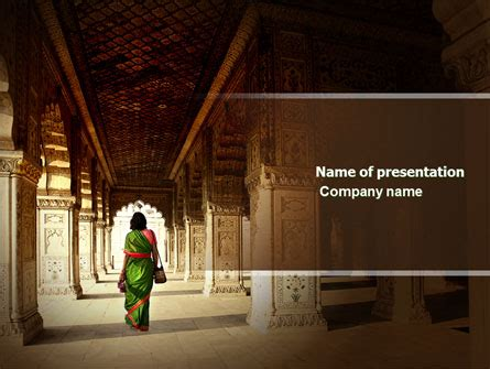 hindu temple  template  powerpoint